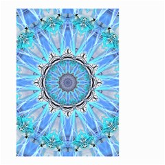 Sapphire Ice Flame, Light Bright Crystal Wheel Small Garden Flag (two Sides) by DianeClancy