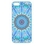 Sapphire Ice Flame, Light Bright Crystal Wheel Apple Seamless iPhone 5 Case (Color) Front