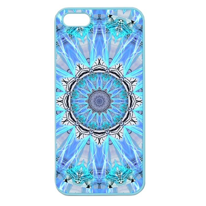 Sapphire Ice Flame, Light Bright Crystal Wheel Apple Seamless iPhone 5 Case (Color)