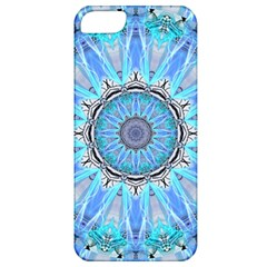 Sapphire Ice Flame, Light Bright Crystal Wheel Apple Iphone 5 Classic Hardshell Case by DianeClancy