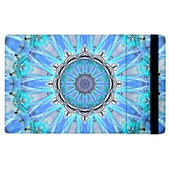 Sapphire Ice Flame, Light Bright Crystal Wheel Apple Ipad 2 Flip Case by DianeClancy