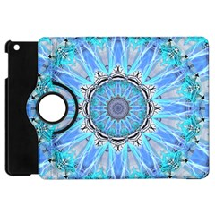 Sapphire Ice Flame, Light Bright Crystal Wheel Apple Ipad Mini Flip 360 Case by DianeClancy