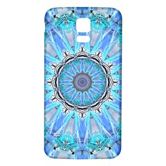 Sapphire Ice Flame, Light Bright Crystal Wheel Samsung Galaxy S5 Back Case (white) by DianeClancy