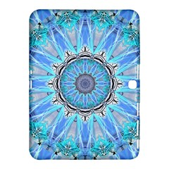 Sapphire Ice Flame, Light Bright Crystal Wheel Samsung Galaxy Tab 4 (10 1 ) Hardshell Case  by DianeClancy