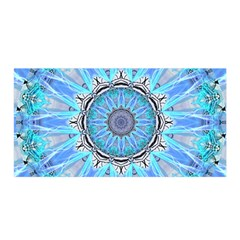 Sapphire Ice Flame, Light Bright Crystal Wheel Satin Wrap by DianeClancy