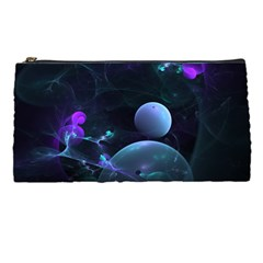The Music Of My Goddess, Abstract Cyan Mystery Planet Pencil Cases by DianeClancy