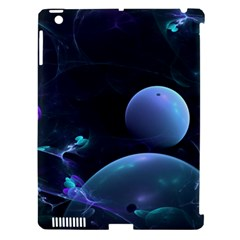 The Music Of My Goddess, Abstract Cyan Mystery Planet Apple Ipad 3/4 Hardshell Case (compatible With Smart Cover) by DianeClancy