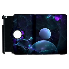 The Music Of My Goddess, Abstract Cyan Mystery Planet Apple Ipad 2 Flip 360 Case by DianeClancy