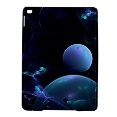 The Music Of My Goddess, Abstract Cyan Mystery Planet Ipad Air 2 Hardshell Cases by DianeClancy