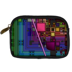 Jewel City, Radiant Rainbow Abstract Urban Digital Camera Cases by DianeClancy