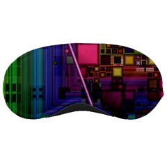 Jewel City, Radiant Rainbow Abstract Urban Sleeping Masks by DianeClancy