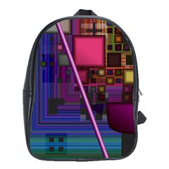 Jewel City, Radiant Rainbow Abstract Urban School Bags(large)  by DianeClancy