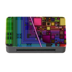 Jewel City, Radiant Rainbow Abstract Urban Memory Card Reader With Cf by DianeClancy
