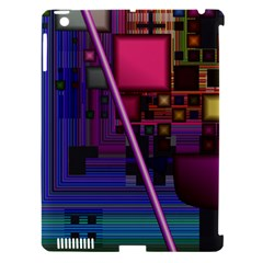 Jewel City, Radiant Rainbow Abstract Urban Apple Ipad 3/4 Hardshell Case (compatible With Smart Cover) by DianeClancy