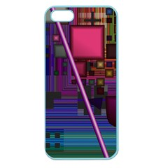 Jewel City, Radiant Rainbow Abstract Urban Apple Seamless Iphone 5 Case (color) by DianeClancy