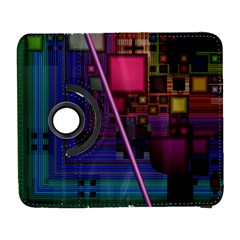 Jewel City, Radiant Rainbow Abstract Urban Samsung Galaxy S  Iii Flip 360 Case by DianeClancy