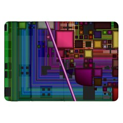 Jewel City, Radiant Rainbow Abstract Urban Samsung Galaxy Tab 8 9  P7300 Flip Case by DianeClancy