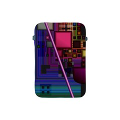 Jewel City, Radiant Rainbow Abstract Urban Apple Ipad Mini Protective Soft Cases by DianeClancy