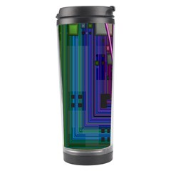 Jewel City, Radiant Rainbow Abstract Urban Travel Tumblers by DianeClancy