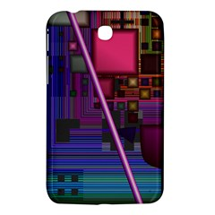 Jewel City, Radiant Rainbow Abstract Urban Samsung Galaxy Tab 3 (7 ) P3200 Hardshell Case  by DianeClancy