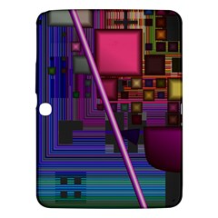 Jewel City, Radiant Rainbow Abstract Urban Samsung Galaxy Tab 3 (10 1 ) P5200 Hardshell Case  by DianeClancy