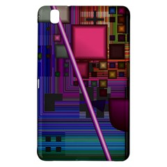 Jewel City, Radiant Rainbow Abstract Urban Samsung Galaxy Tab Pro 8 4 Hardshell Case by DianeClancy