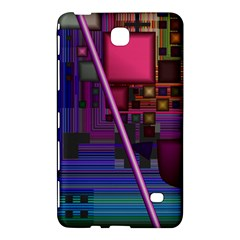 Jewel City, Radiant Rainbow Abstract Urban Samsung Galaxy Tab 4 (7 ) Hardshell Case  by DianeClancy