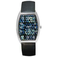 Looking Out At Night, Abstract Venture Adventure (venture Night Ii) Barrel Style Metal Watch by DianeClancy