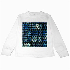 Looking Out At Night, Abstract Venture Adventure (venture Night Ii) Kids Long Sleeve T-shirts by DianeClancy