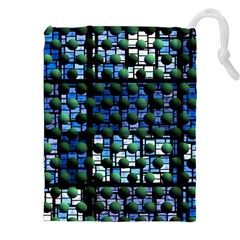 Looking Out At Night, Abstract Venture Adventure (venture Night Ii) Drawstring Pouches (xxl)