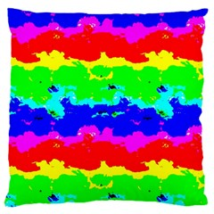 Colorful Digital Abstract  Large Cushion Case (two Sides) by dflcprints