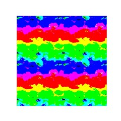 Colorful Digital Abstract  Small Satin Scarf (square)