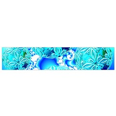 Blue Ice Crystals, Abstract Aqua Azure Cyan Flano Scarf (small) by DianeClancy