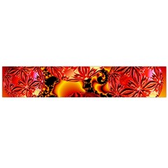Flame Delights, Abstract Red Orange Flano Scarf (large) by DianeClancy