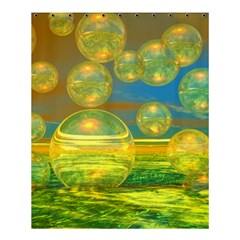 Golden Days, Abstract Yellow Azure Tranquility Shower Curtain 60  X 72  (medium)  by DianeClancy
