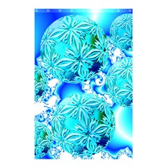 Blue Ice Crystals, Abstract Aqua Azure Cyan Shower Curtain 48  X 72  (small)  by DianeClancy