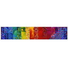 Conundrum I, Abstract Rainbow Woman Goddess  Flano Scarf (large) by DianeClancy