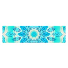 Blue Ice Goddess, Abstract Crystals Of Love Satin Scarf (oblong)