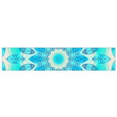 Blue Ice Goddess, Abstract Crystals Of Love Flano Scarf (small) by DianeClancy