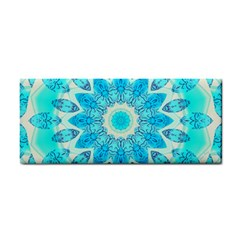 Blue Ice Goddess, Abstract Crystals Of Love Hand Towel