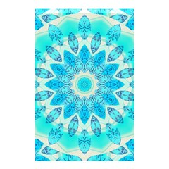 Blue Ice Goddess, Abstract Crystals Of Love Shower Curtain 48  X 72  (small)