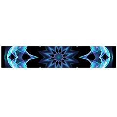 Crystal Star, Abstract Glowing Blue Mandala Flano Scarf (large) by DianeClancy