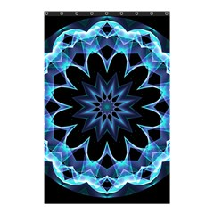 Crystal Star, Abstract Glowing Blue Mandala Shower Curtain 48  X 72  (small)  by DianeClancy