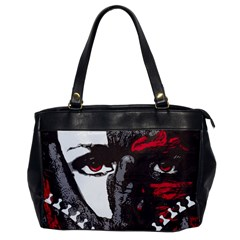 Zipper Face Oversize Office Handbag (one Side) by DryInk