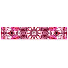 Twirling Pink, Abstract Candy Lace Jewels Mandala  Flano Scarf (large)