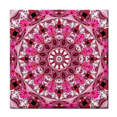 Twirling Pink, Abstract Candy Lace Jewels Mandala  Face Towel by DianeClancy