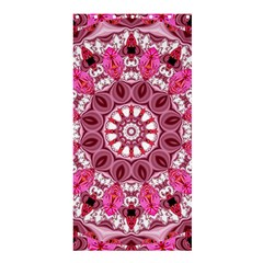 Twirling Pink, Abstract Candy Lace Jewels Mandala  Shower Curtain 36  X 72  (stall)