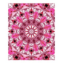 Twirling Pink, Abstract Candy Lace Jewels Mandala  Shower Curtain 60  X 72  (medium)  by DianeClancy