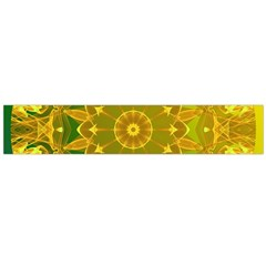 Yellow Green Abstract Wheel Of Fire Flano Scarf (large) by DianeClancy