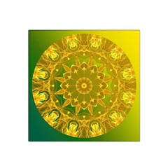 Yellow Green Abstract Wheel Of Fire Satin Bandana Scarf by DianeClancy